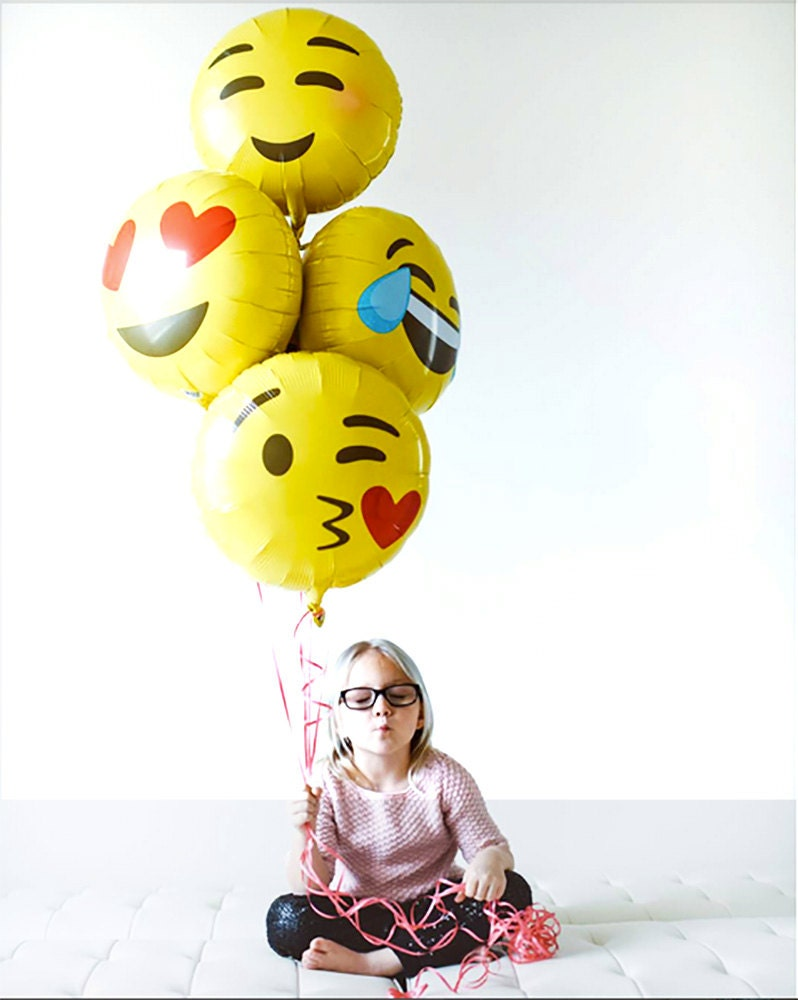Emoji Party Balloons Birthday Balloon Decor
