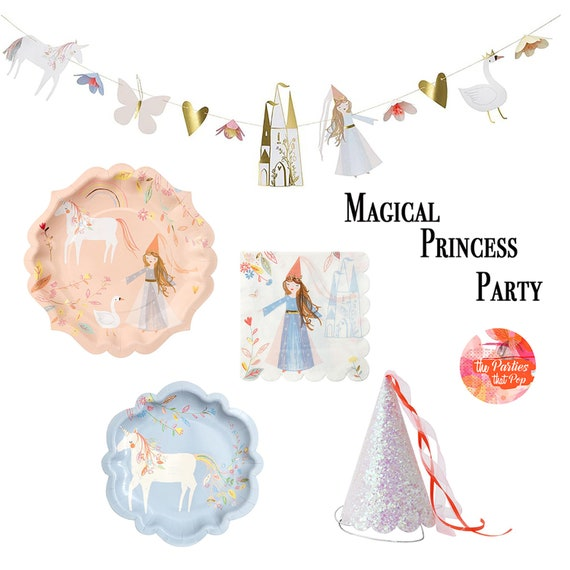 PASTEL UNICORN DELUXE CONE HATS 8 ~ Birthday Party Supplies Favors Iridescent