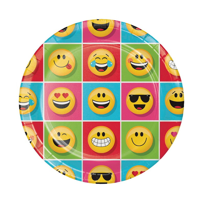 Emoji Party Plates Large Birthday Decor