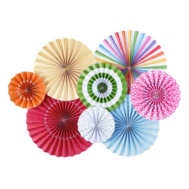Birthday Party Rosettes | Paper Rosette Backdrop Fun Bright Rainbow Birthday Party Decor Pinwheel Backdrop Paper Pinwheel Fan Party Pinwheel