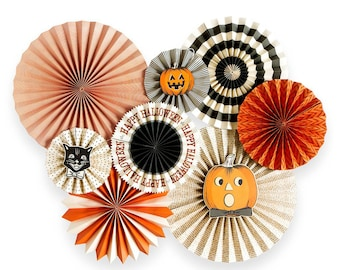 Halloween Pinwheel Fans | Halloween Decorations Vintage Halloween Party Decor Inside Halloween Home Decor Halloween Pinwheel Backdrop Fans