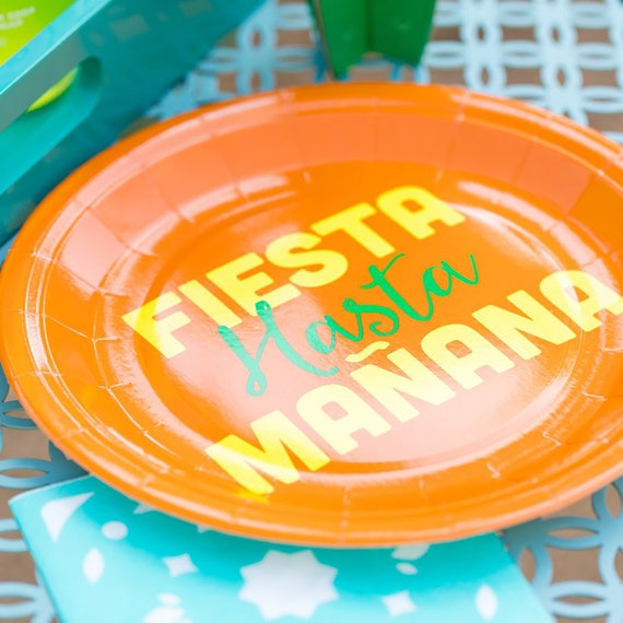 Fiesta Party Paper Plates Large 9 Mexican Party