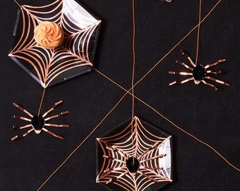 Halloween Paper Plates   Halloween Plates, Halloween Spider Web, Halloween Tableware - Halloween Party Plates - Halloween Party Supplies