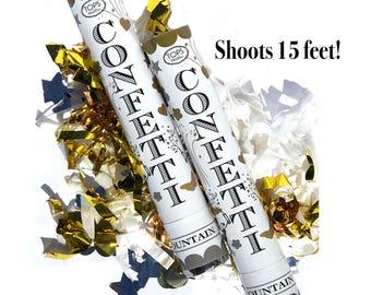 Gold Confetti Cannon | Party Confetti Popper Graduation Party Confetti Shooter Wedding Confetti Cannon Grad Party Birthday Confetti Cannon
