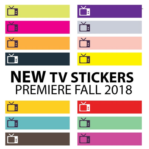 New Tv Shows Stickers Premiere Fall 2018 Tv Series Etsy