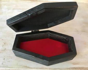 Miniature coffin box Etsy