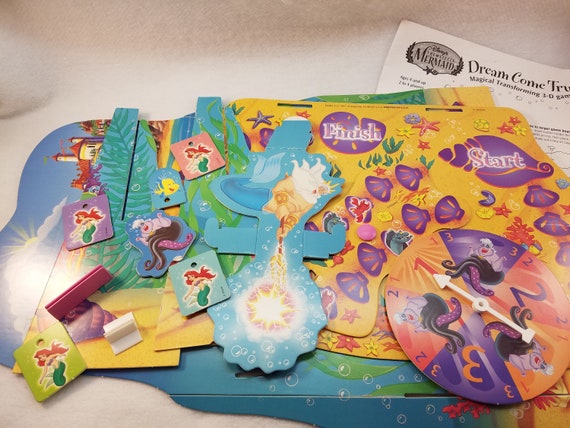 The Little Mermaid Dream Come True Game Pieces And Game Cards For Upcycled Art Projects Mixed Media Shadow Boxes Etc