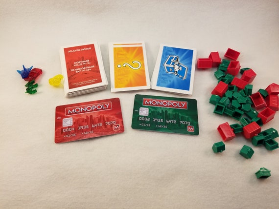 Monopoly Electronic Banking Game Cards Monopoly Game Cards For Etsy