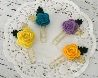 Summer rose paperclip/bookmark