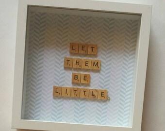 Personalised Scrabble Frame Wall Art Artwork Gift Present Baby Nursery Newborn Birthday