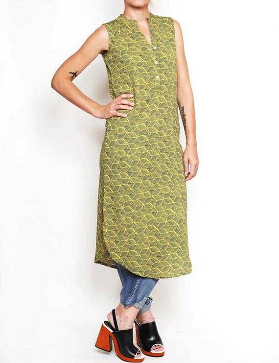 stylish unusual dress women's dress dress green tunic dress dress dress Beautiful sleeveless tunic summer green long dress YO5qnwP