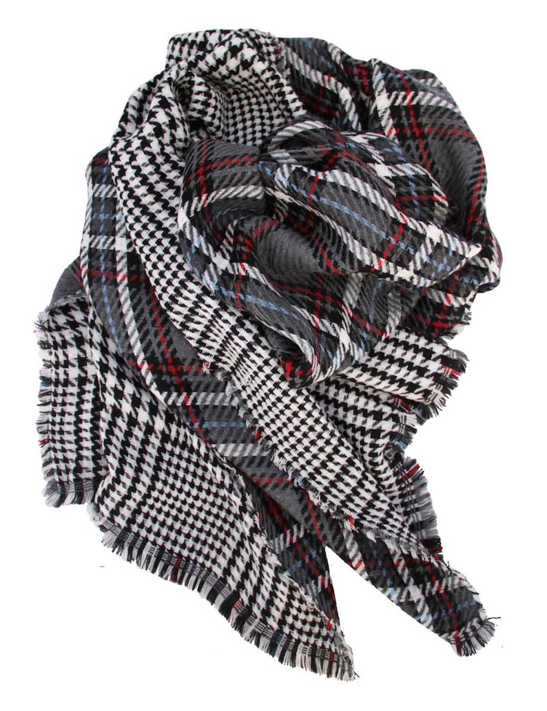 db5c24f0d2572 Checkered scarf double sided scarf tartan olaid scarf | Etsy