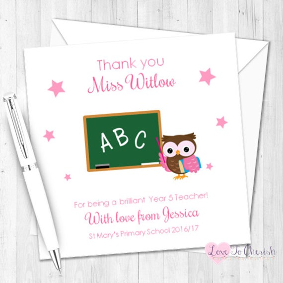 GIFT FOR TEACHER 6x Thank You Gift Tags TA's Pre School Assistants Kraft Card