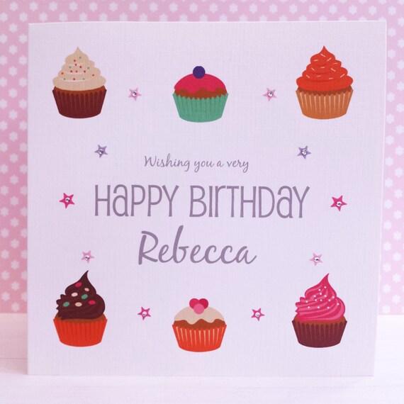 Handmade Personalised Card Yummy Cupcakes Birthday Card Etsy