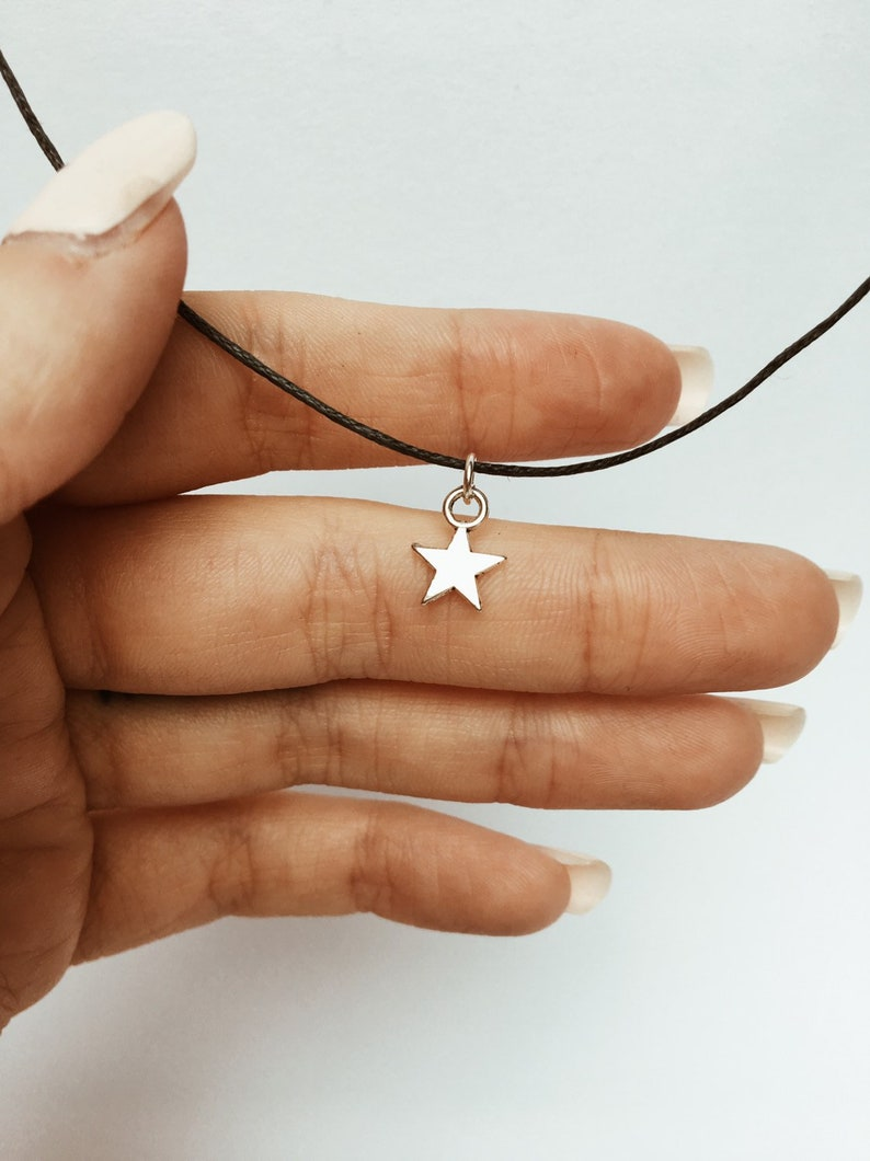 Silver Star Necklace image 0