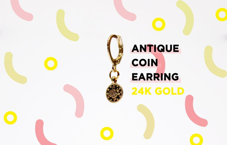 Antique Coin Earring 24k  image 0