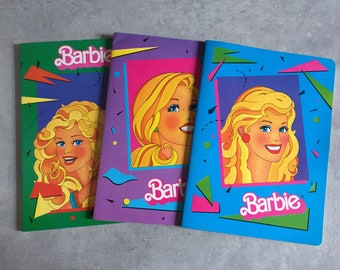 1987 Mattel Barbie Notebooks Set of 3