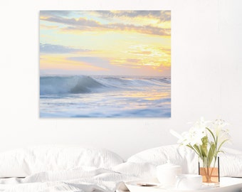 Beach Print, Sunset, Ocean Photography, Sunset Photography, Wave Art, Orange County Sunset, Wall Art, Wall Decor