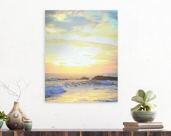 Sunset Photography, Beach Print, Beach Photography, Sunset Photo, Laguna Beach, Wave Photography