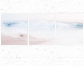 Wave Photography, Triptych, Beach Print, Abstract Art, Beach Photography, Wave Art, Ocean Photography, Abstract Wave Art, Ocean Scene