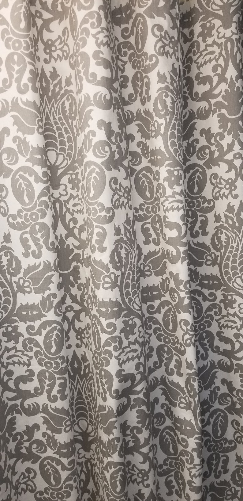 Grey And White Floral Shower Curtain Rts Designer Fabric Shower Curtain 72w X 72l Premier Amsterdam Grey White Cotton
