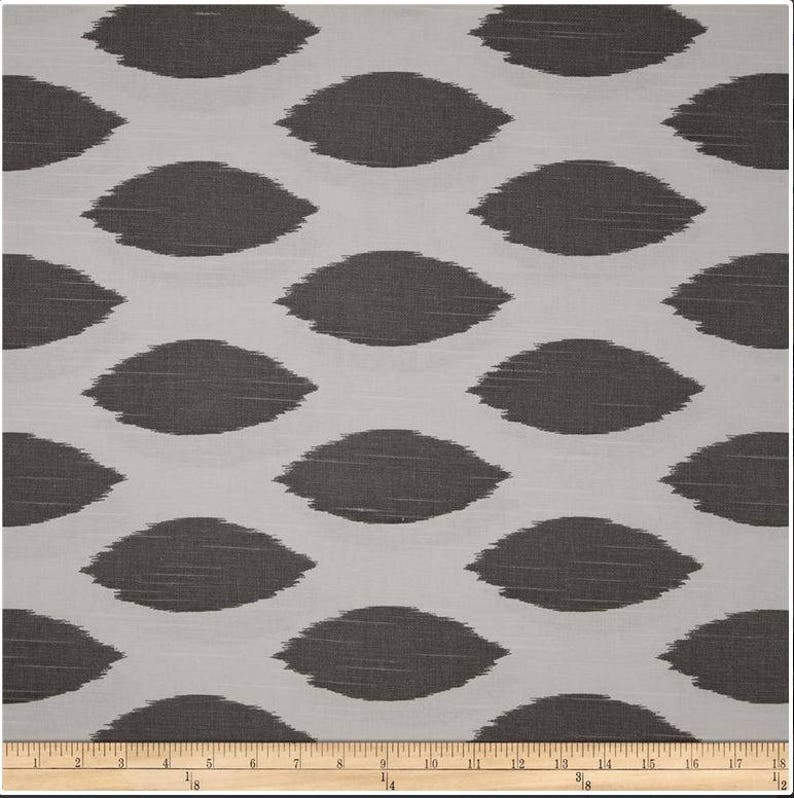 RTS Gray and white chipper ogee window curtains two 50 x 90 unlined panels