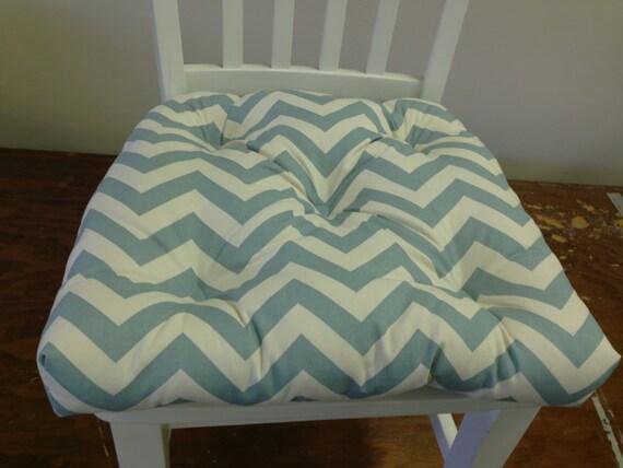 Genial Zig Zag Chevron Chair Cushion Village Blue Robinu0027s Egg   Etsy