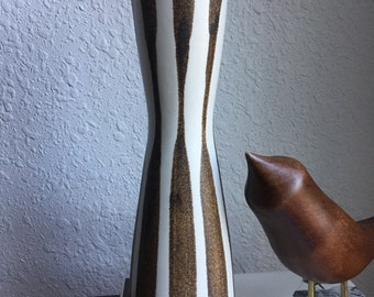 Rare Giant Frank Mann Studio Stoneware Pottery Vase Vessel