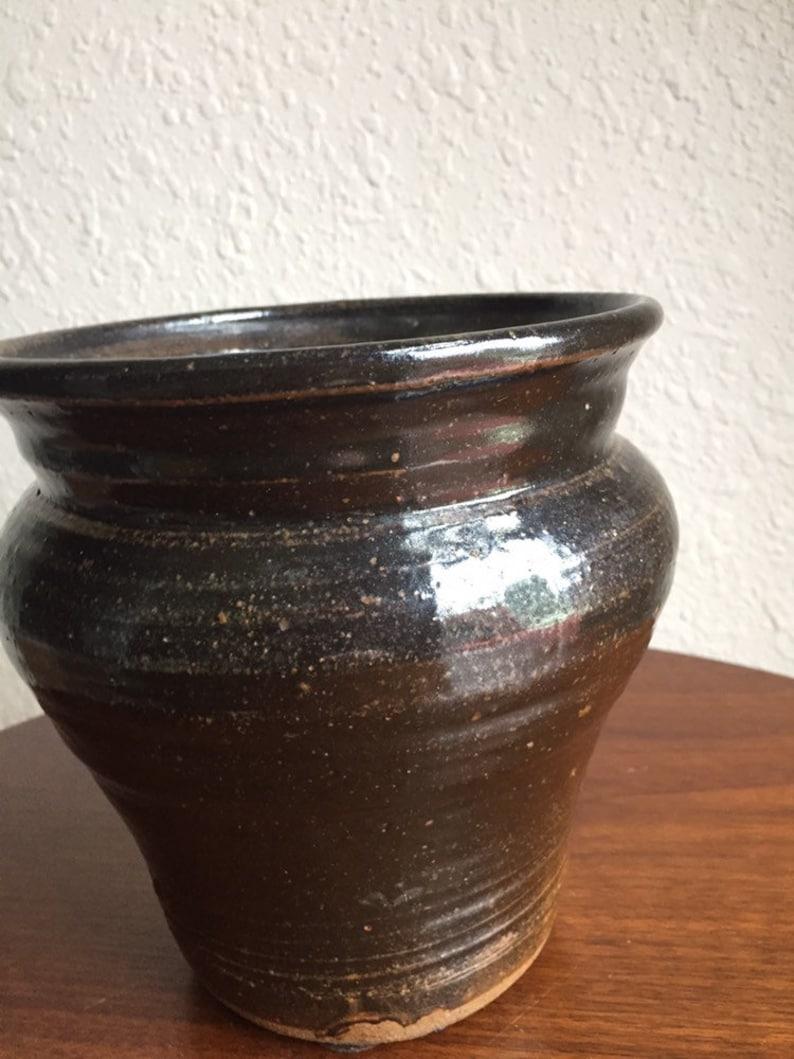 Stunning Mid Century Joel Edwards Studio Pottery Vase 1971 Signed