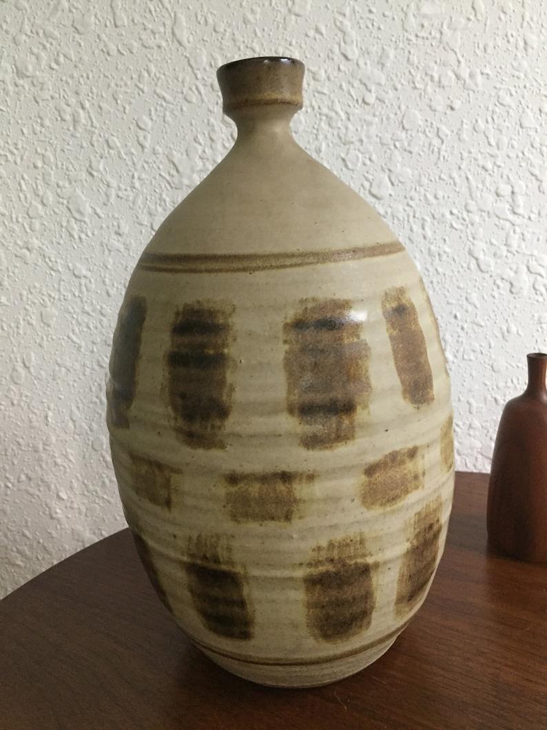 Large Mid Century Abstract Ralph Pardington Studio Pottery Vase Vessel Weed Pot RARE