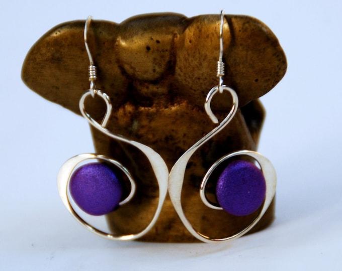 STERLING SILVER EARRINGS -  Mother's Day gift,purple earrings, funky light earrings,Australian jewellery,Australian earrings,Australian shop