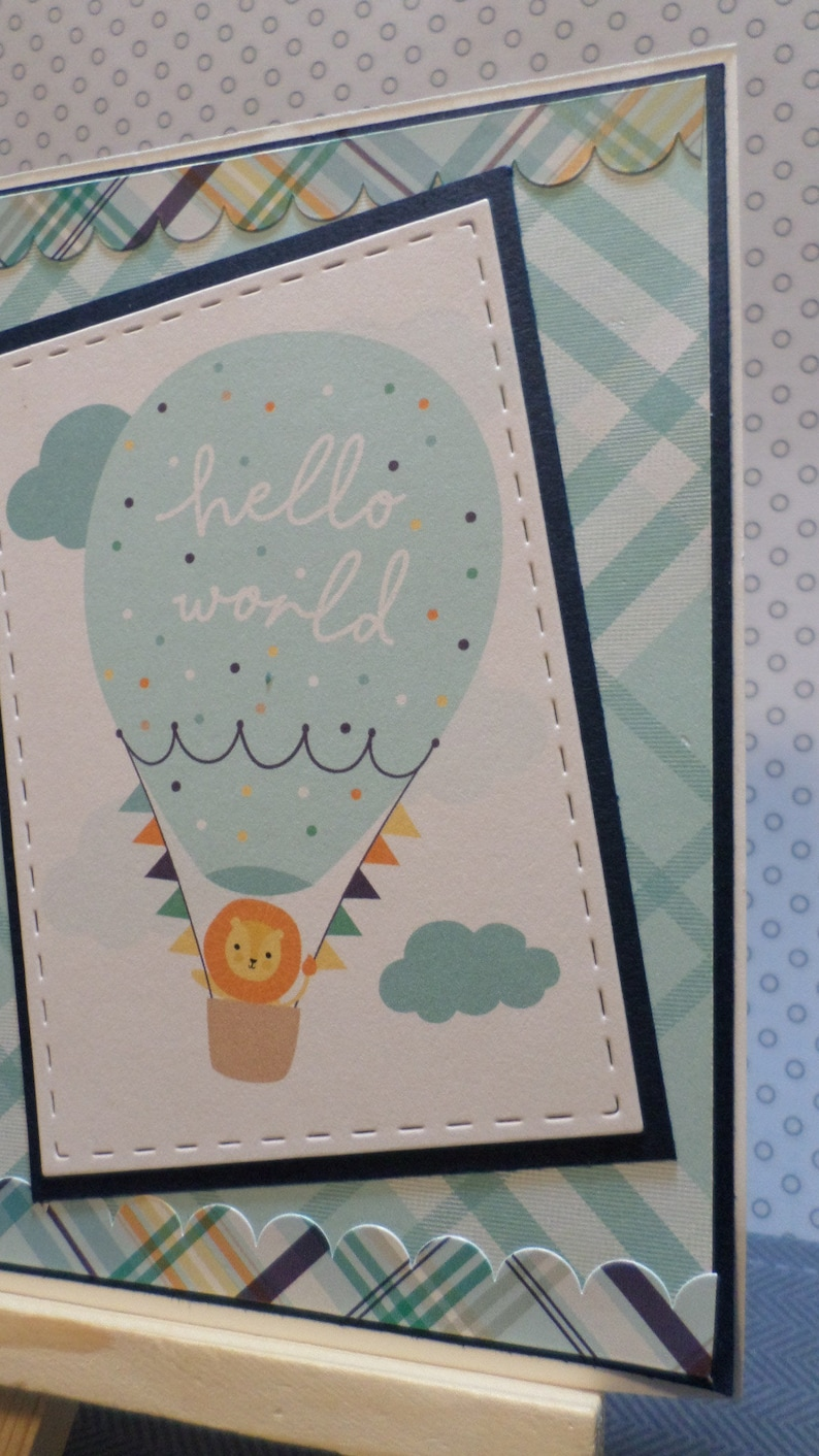 Baby boy shower card-Congratulations-New baby-New mom-A2 card-Greeting card-Blue-New arrival-Baby shower card