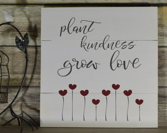 Kindness Quote Sign - Inspirational Wood Sign - Inspirational Wood Wall Art - Rustic Wood Signs With Sayings -  Love Sign