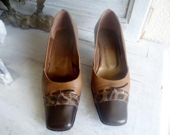 Elegant shoes high heel ,vintage women shoes 80's