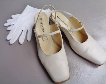 Elegant shoes high heel ,vintage womenescarpins 80's,French escarpins
