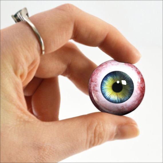 """1/"""" Inch Glass Eyeballs Human Taxidermy Doll Eye Halloween Fantasy Supply 25mm"""