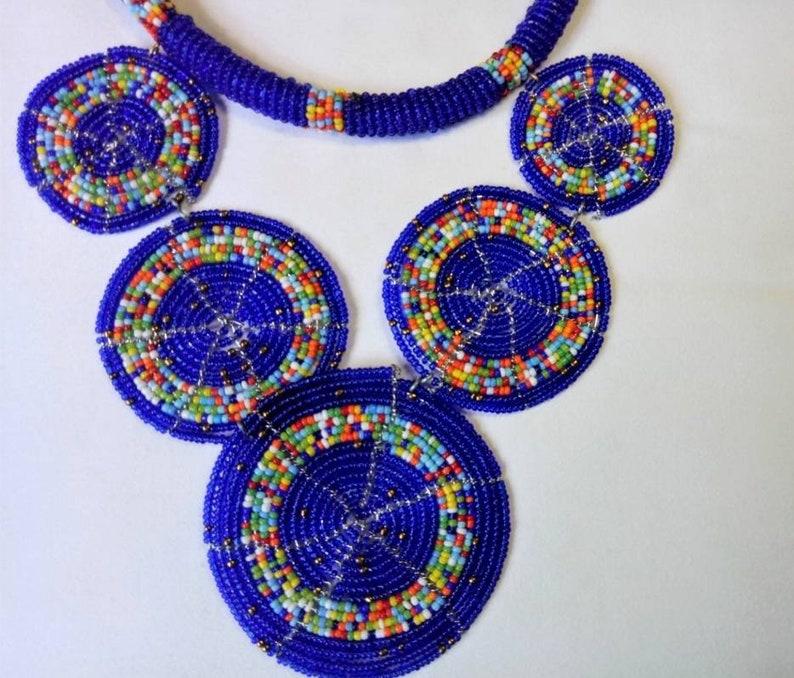 Masai Necklace maasai collar made with beads From East Africa Tanzania