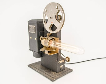 Dimmable lamp from old film projector-KODASCOPE