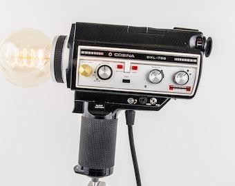 """Vintage Camera Lamp Super 8 """"Cosina OXL 755""""-upcycling"""