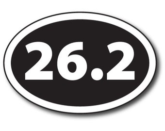 5K Marathon Magnet 4x6 inch Oval Inverted Pink Decal for Car Truck or Fridge