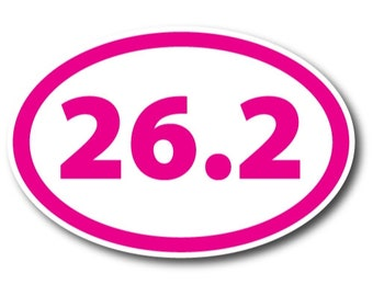 5K Marathon Black and White Oval Magnet 4 x 6 inch Decal for Car Truck or Fridge