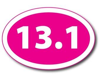 25K Marathon Pink Oval Car Magnet Decal Heavy Duty Waterproof