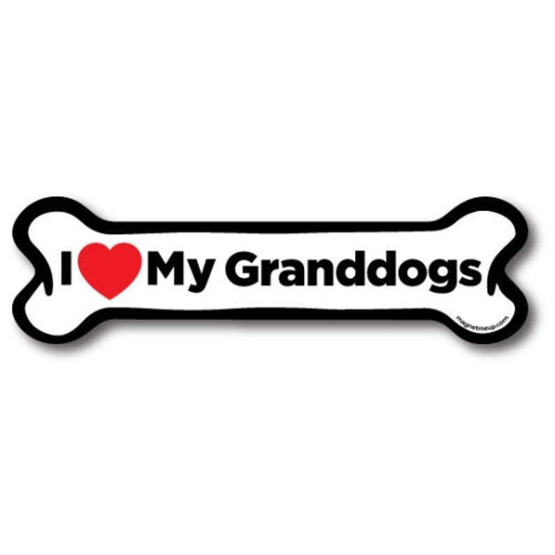 I LOVE MY DACHSHUNDDogs Doggy PuppyCar Automobile Dog Bone Magnet