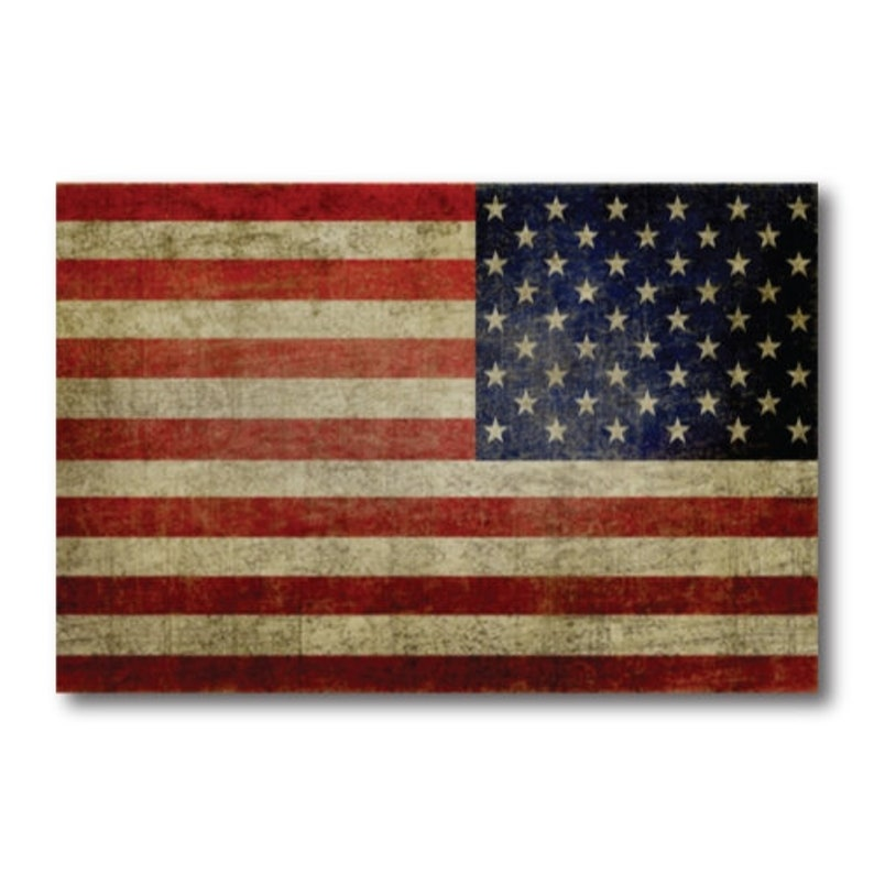 4x6 2 Pack Opposing Heavy Duty for Car Waving American Flag Car Magnet Decal