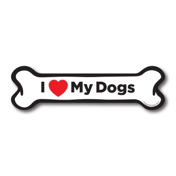 Magnet Me Up I Love My Cane Corso Dog Bone Car Magnet 2x7 Dog Bone Auto Truck Decal Magnet