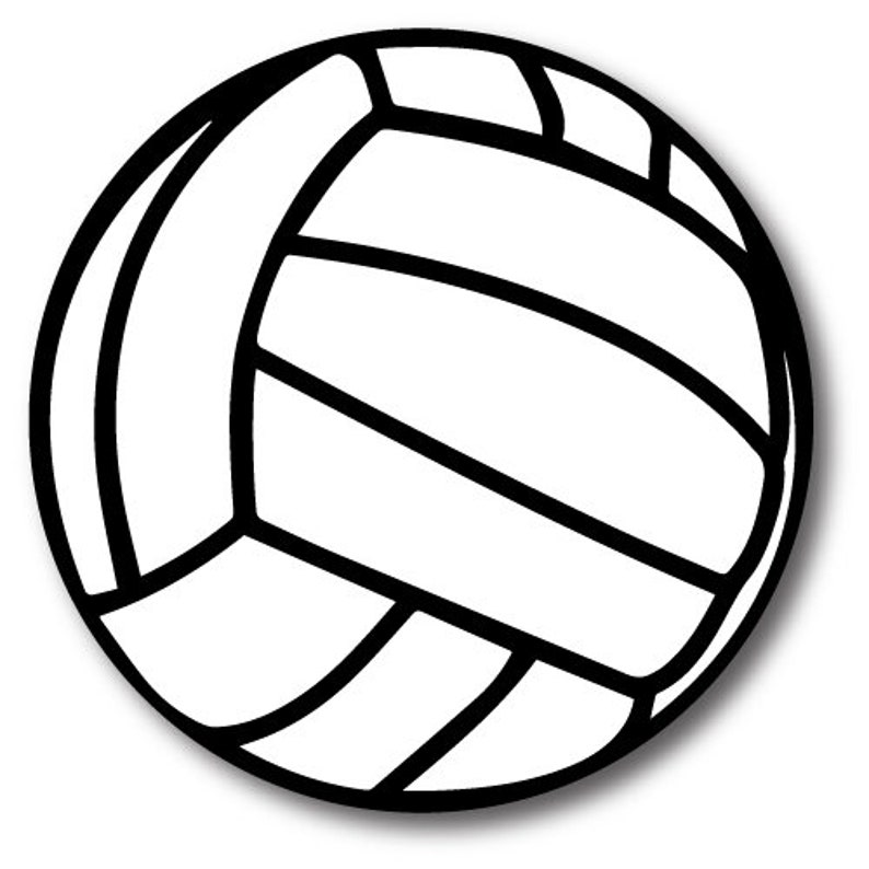 Volleyball Magnet 5 Round Heavy Duty For Car Truck Suv