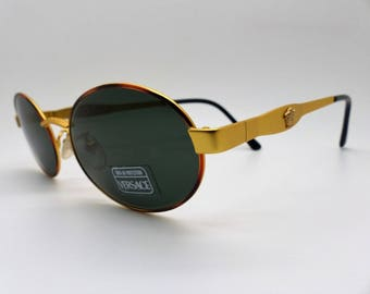 d6456884532 Versace Gianni Sunglasses Mod. S09 Col. 07M Vintage Genuine New Old Stock