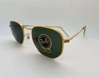 82095a31a7a RayBan B L W0980 Arista Gold Classic Collection G-15  Unisex Small  Vintage  New Old Stock