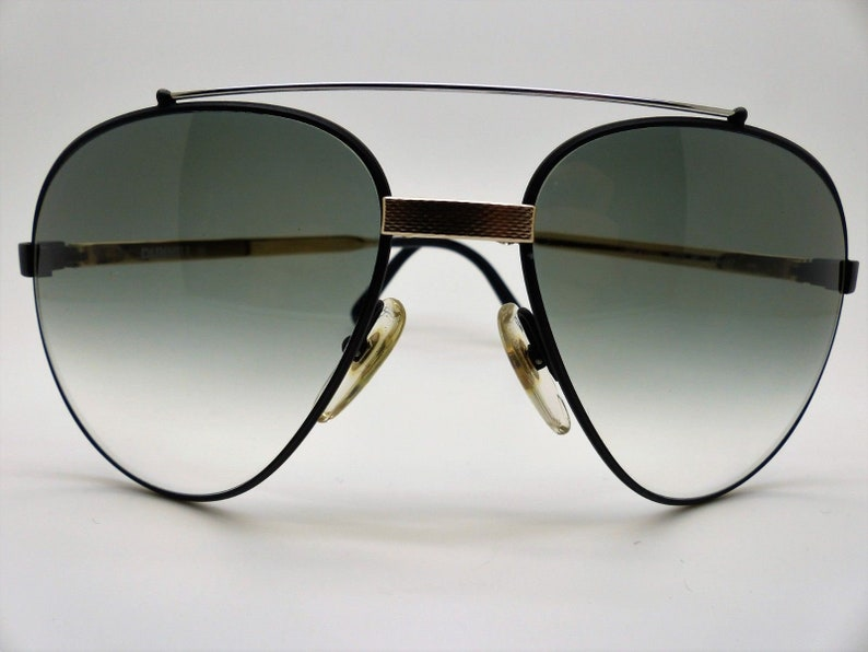 1e1d03181a Vintage 80 s DUNHILL 6023 90 Aviator Black Chrome 100%