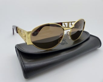 Rare Vintage Gianni Versace Sunglasses Mod S38 Col 030 New Old Stock 1980's